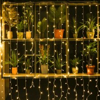 360 LED 9.8ft x 6.6ft Window Curtain String Light, Icicle Fairy Icicle Lights with Parts Twinkle bulbs Decoration for Curtain window,Christmas Wedding Party Home Garden Bedroom Outdoor Indoor Wall