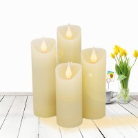 Jumping Flame LED Candles Lights flickering Flame With Wax Pillar