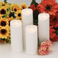 Jumping Flame LED Candles Lights flickering Flame With Wax Pillar, Flameless Battery Operated LED Lights,Electric Fake Led Lights For Home decor