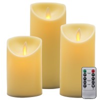flameless candels,flickering led candles 3 pack