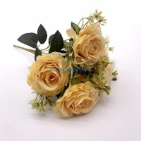 Fabric Rose Bush 5 Branches Rose For Wedding Centerpieces Bridal Shower Home Garden Decorations